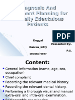 Diagnosis and Treatment Planning for Partially Edentulous Patients11