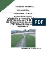 Memoria Descriptiva Especificacions Tecnicas - Instalacion Campo Deportivo