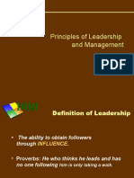 Principles of Leadership and Management