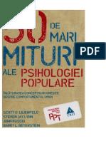 Scott O. Lilienfeld - 50 de Mari Mituri Ale Psihologiei Populare v.0.