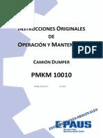 01. Manual de Operación y Mantenimiento Dumper Paus (D-16).pdf