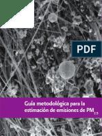 Guia Metodologica Para La Estimación de Emisiones de PM2.5