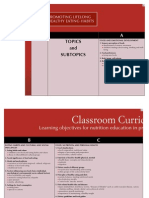 The Classroom Curriculum Chart - Nutrition Education in Primary Schools