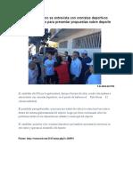 2016-04-09 Enrique Serrano Se Entrevista Con Cronistas Deportivos