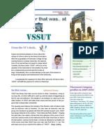 VSSUT Q1 2010 Newsletter