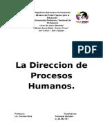 La Dirección de Los Procesos Humanos