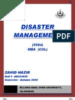 Semester III Assgn II Disaster Management
