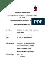 Clases de Cooperativa en Ecuador
