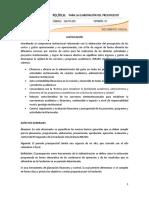 Politica_elaboracion Del Presupuesto
