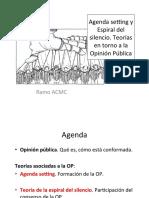 6. Agenda Setting y Espiral Del Silencio