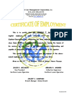 Certificate of employment samplecx certificate of employment jeremy yelopaper Gallery