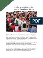 2016-04-08 Recibe Enrique Serrano Peticiones de Vecinos en Colonia Vistas Cerro Grande