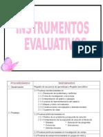 Evaluación - Instrumentos