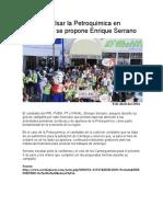 2016-04-08 Impulsar la Petroquímica en  Camargo, se propone Enrique Serrano
