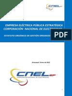 Estatuto Organico de Gestion Organizacional Por Procesos final al 13 de Ago 2015
