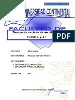 TEMA 4 ( Tiempo de Vaciado de Un Cilindro Caso 1 y 2)