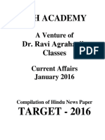 Current Affairs (January-2016)