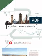 Balnearios Folletos Turisticos Zaragoza Cariñena Daroca Belchite