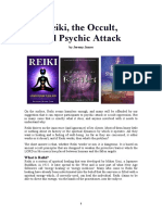 Reiki, the Occult and Psychic Attack