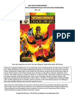 One Hour Warhammer Chaos Dwarfs Module