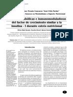 Acciones Anabólicas e Inmunomoduladoras