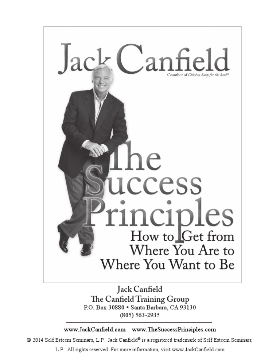 Workbooks success principles workbook : Keynote Canfield | Self Esteem | Brainstorming
