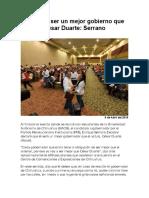 2016-04-09 Yo voy a ser un mejor gobierno que César Duarte