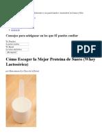 Cómo Escoger La Mejor Proteína de Suero (Whey Lactosérica) _ MND