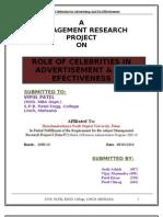 Role of Celebrities in Advertisement & Its Efectiveness