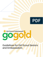 girl scout gold award guidelines