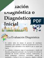 Evaluación Diagnóstica o Diagnóstico Inicial