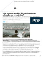 ¿Qué Políticos Alrededor Del Mundo Se Vieron Salpicados Por El Escándalo_ - Política Argentina