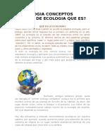 La Ecologia Conceptos Basicos de Ecologia Que Es