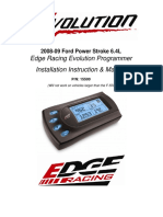 08-09 Ford Edge Racing Evolution Programmer  Installation Instruction & Manual  P/N