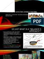 principles of effective teachers of reading ii