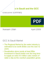 Water trends in Saudi and the GCC