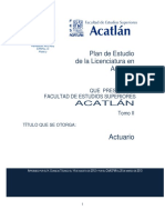Plan de Estudios 2014 Actuaría UNAM FES ACATLÁN