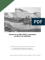 Vascos en El Siglo VXIIII-Venezolano-su Obra y Quehacer