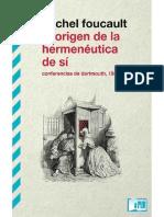 Foucault Michael. El origen de la hermeneutica de sì.pdf