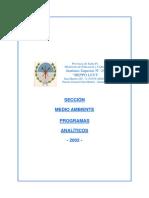 Programa Analitico Medio Ambiente