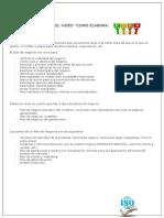 Resumen Del Video ISO, Plan de Negocios