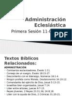 Primera Sesión Administración Eclesiástica