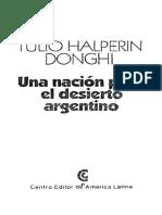 Una Nacion Para El Desierto Argentino - Tulio Halperin Donghi