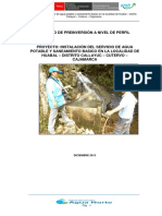 Perfil Tecnico Agua Potable
