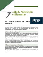 La Mejor Forma de Alimentar su Cabello (Salud, Nutrición y Bienestar).
