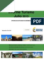 Informe Turismo Julio 2015