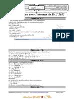 Série d'Exercices de Révision Au BAC 2012 - Informatique Algorithmique Revision - Bac Mathématiques (2011-2012) Mr Mahdhi Mabrouk