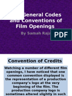 General Codes and Conventions of Film Openings