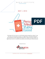 Personal Media | Public Good - Twitter Report