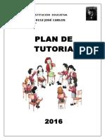 Plan de Tutoria Institucional Jcm 2016.